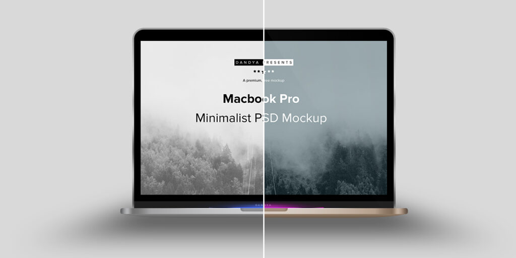 Macbook Pro Free Customizable Mockup