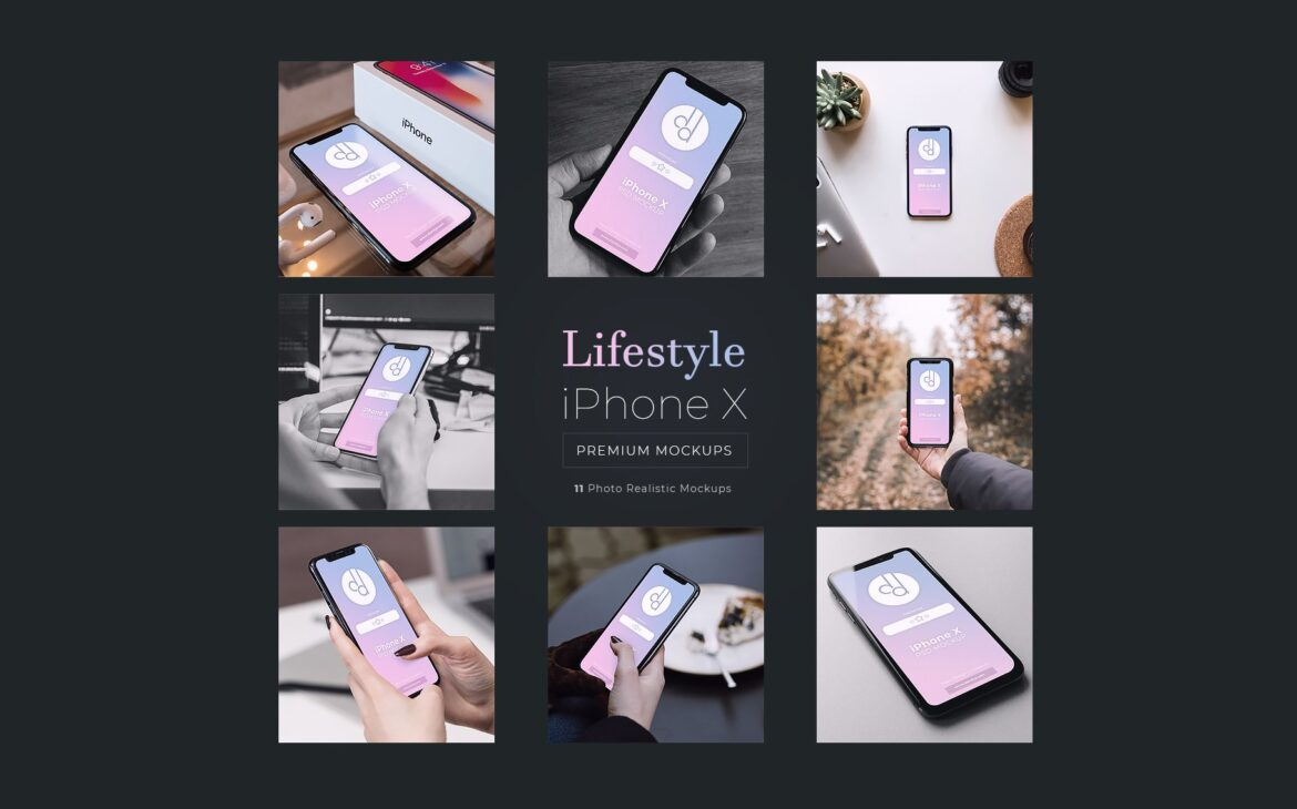 Lifestyle iPhone X Mockups